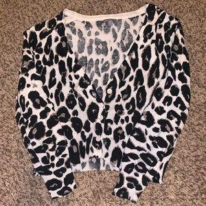 Leopard half sleeve sweater